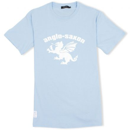 Anglo-Saxon White Dragon T-Shirt - Light Blue
